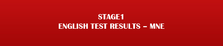 Stage1 English Test Results – MNE